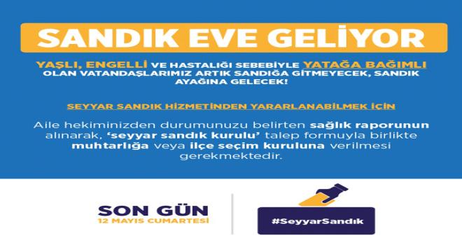 Photo of Seyyar Sandık Eve Geliyor