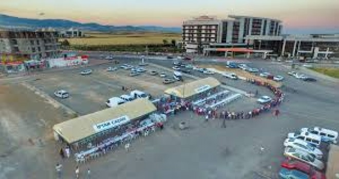 Photo of 400 Yataklı Eğim Araştırma Hastanesi Önüne Ramazan Çadırı Kuruldu