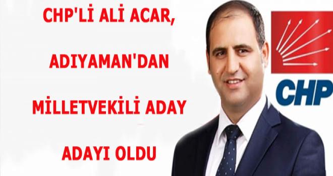 Photo of Gerger'li Av. Ali Acar, CHP'den Adıyaman Milletvekili Aday Adayı Oldu