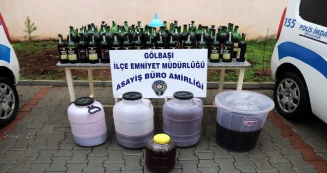 Photo of Gölbaşı'nda Kaçak içki yakalandı.