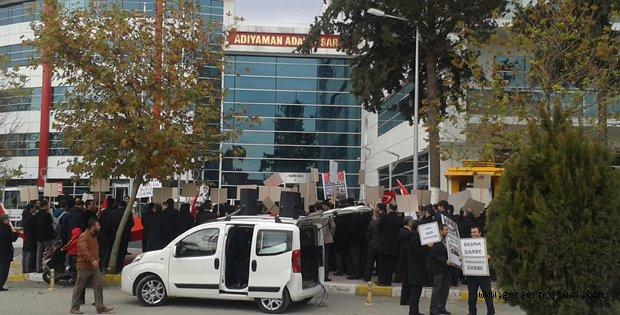 Photo of Adalet Sarayı Önünde Büyük Protesto