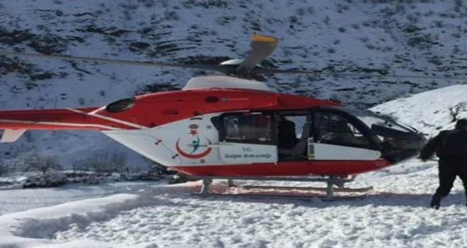 Photo of Hasta Köylünün İmdadına Ambulans Helikopter Yetişti