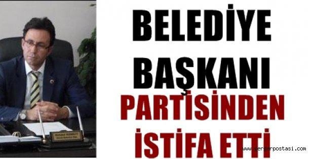 Photo of Belediye başkanı partisinden istifa etti