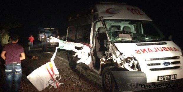 Photo of Gerger 112 Servisi Ambulansı Kaza Yaptı