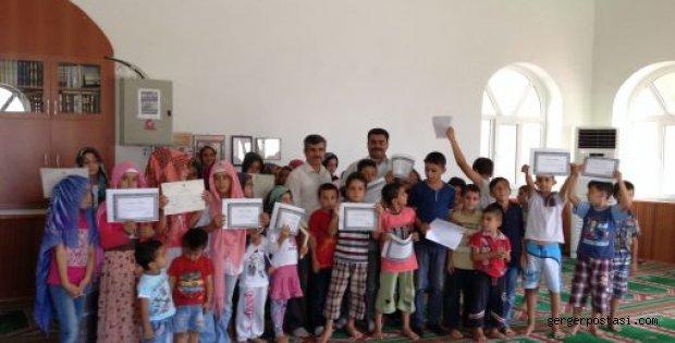 Photo of Gerger ilçesinde yaz Kuran Kursuna katılan çocuklara sertifikaları verildi