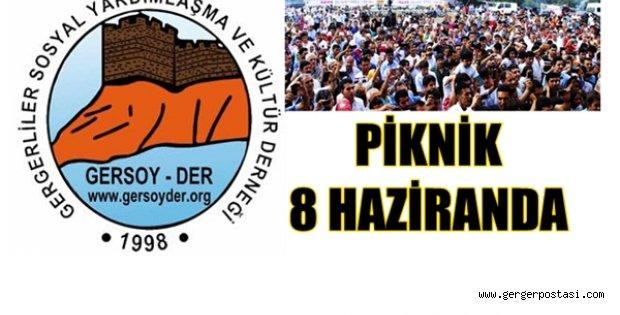 Photo of GERSOY-DER PİKNİĞİ 8 HAZİRAN'DA