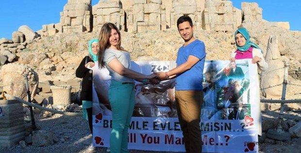 Photo of Nemrut'ta İlginç Evlilik Teklifi