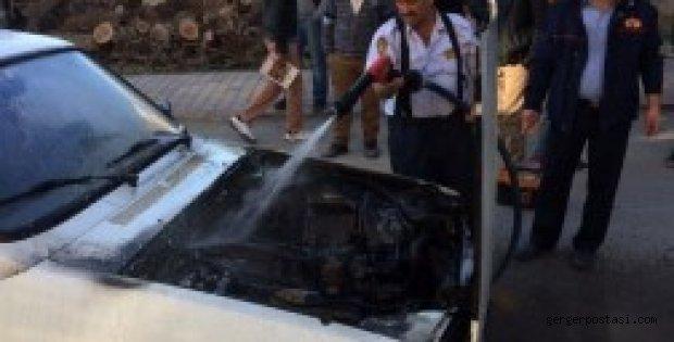 Photo of Seyir Halindeki Otomobil Alev Aldı