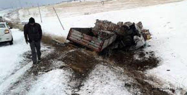 Photo of Tır Şarampole Uçtu Açıklaması 1 Ağır Yaralı