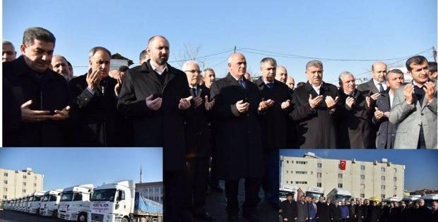 Photo of YARDIM TIRLARI DUALARLA UĞURLANDI